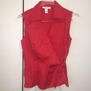 EUC Tomato 🍅 Red Wrap Sleeveless Top